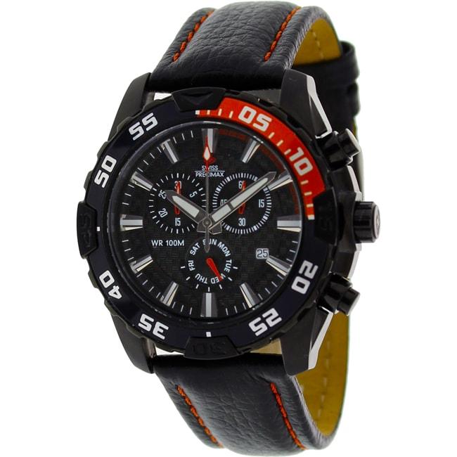 Swiss Precimax Men's Formula 7 Pro Leather Watch