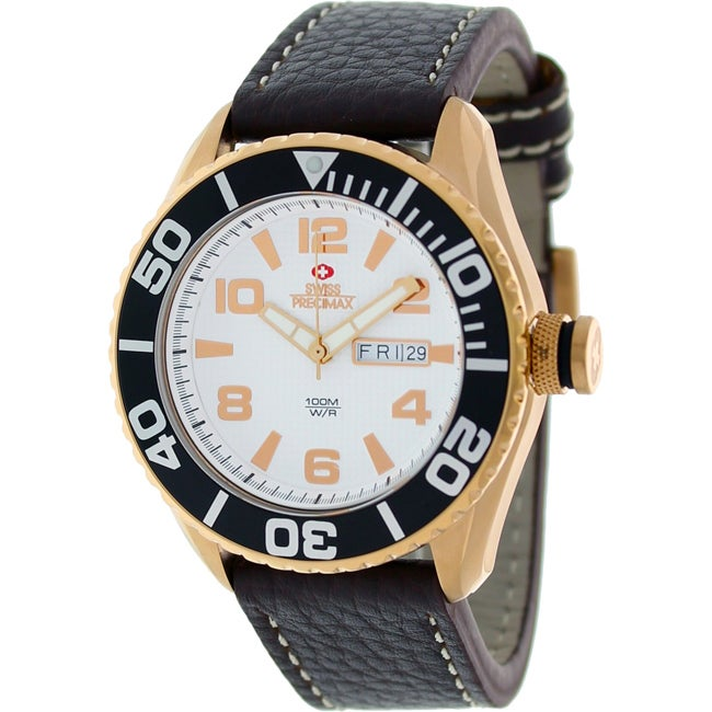 Swiss Precimax Men's Executive Leather Watch