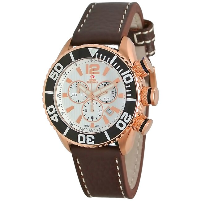Swiss Precimax Men's Executive Elite Leather Watch
