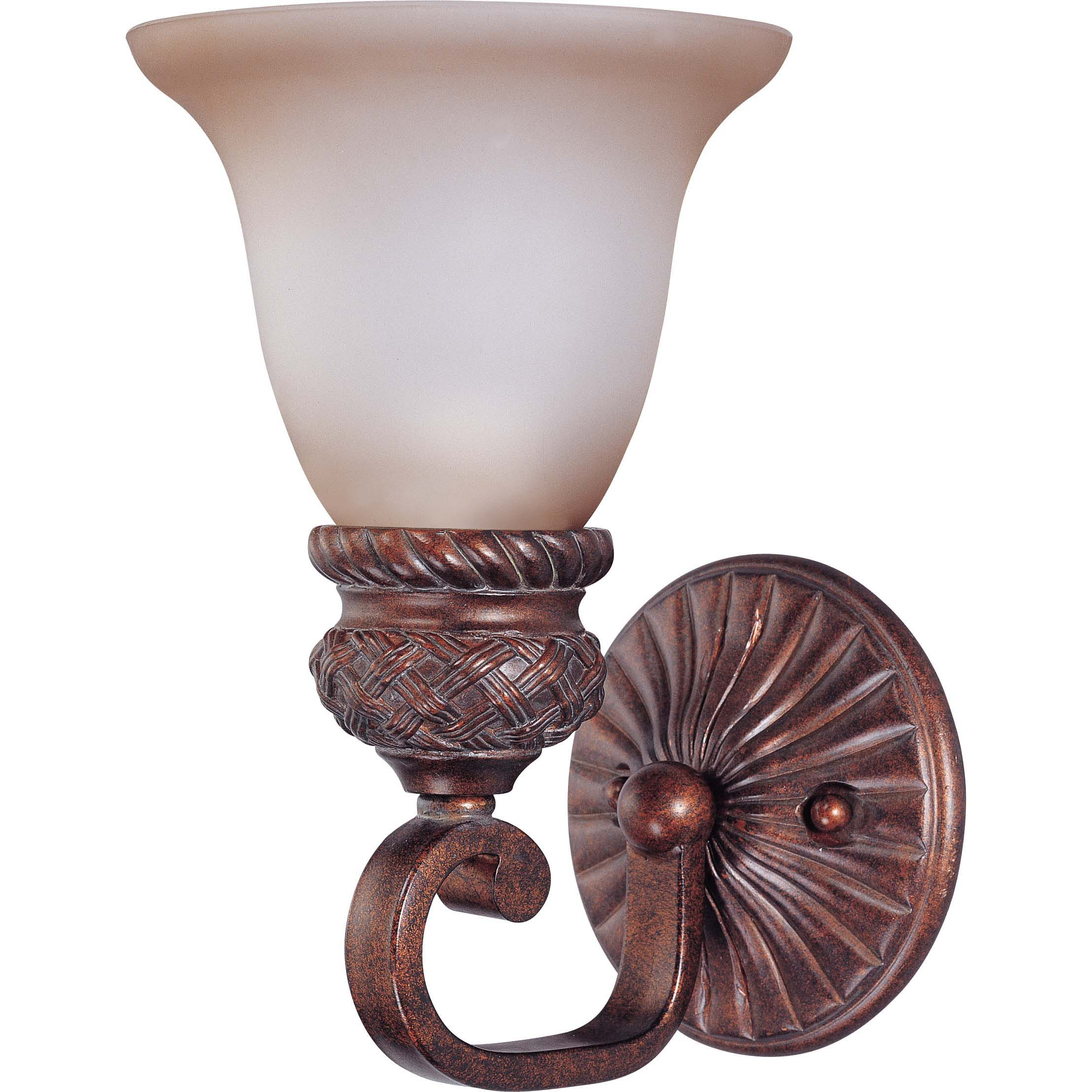 Wesley 1-light Dark Plum Bronze With Amber Bisque Glass Vanity