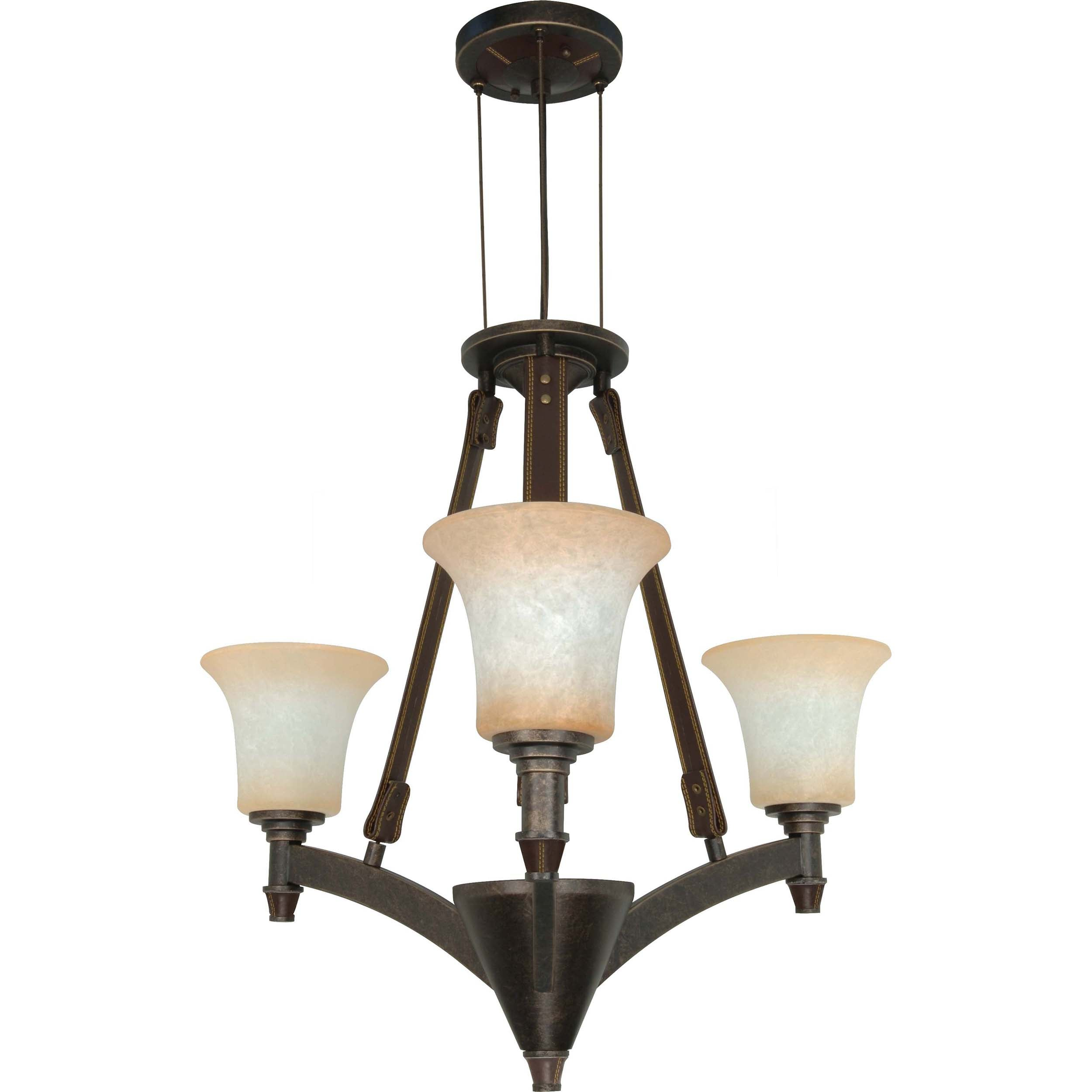 Viceroy 3-light Golden Umber With Burnt Sienna Glass Energy Star Chandelier