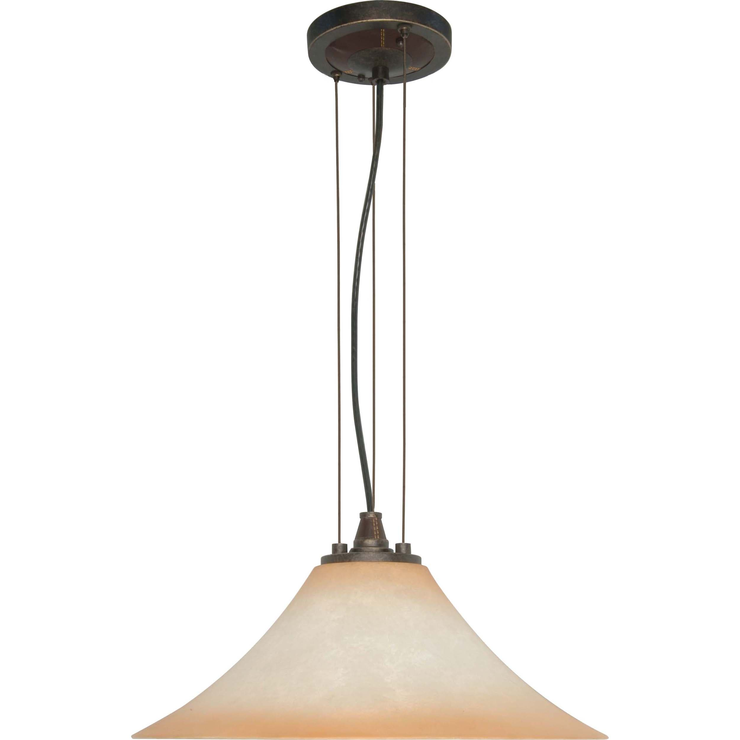 Viceroy 1-light Golden Umber With Burnt Sienna Glass Energy Star Pendant