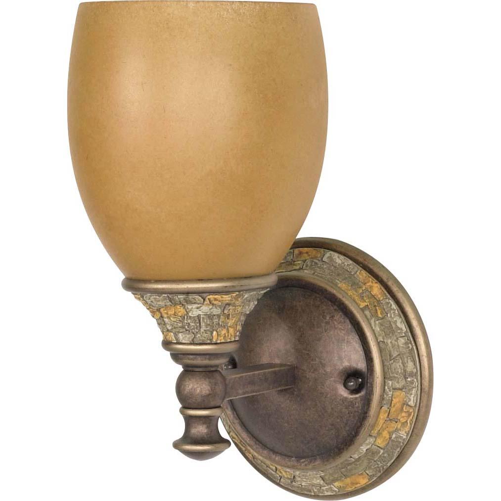 Rockport Tuscano Sepia Glass Dorado Bronze 1-light Wall Sconce