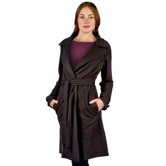 AtoZ Women's Black Easy Trench Jacket