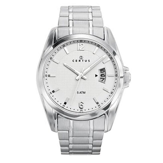 Certus Paris Men's Stainless Steel Silver Dial Date Quartz Watch