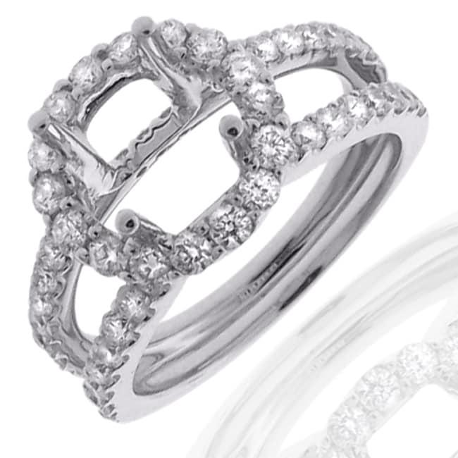 14k White Gold 1ct TDW Diamond Semi-mount Engagement Ring (G-H, SI1/SI2)