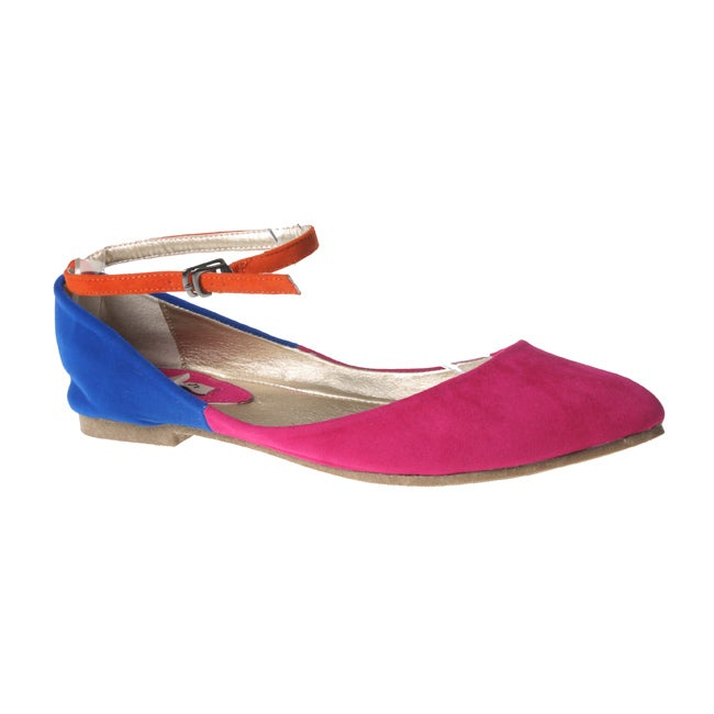 Refresh by Beston Women's Fuchsia JULIA-03 Point Toe Flats