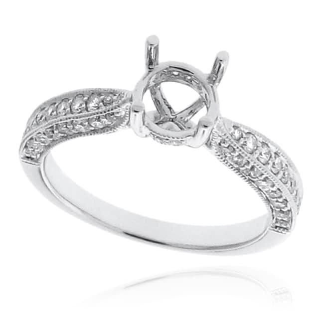 14kt White Gold 1/2ct TDW Diamond Engagement Ring