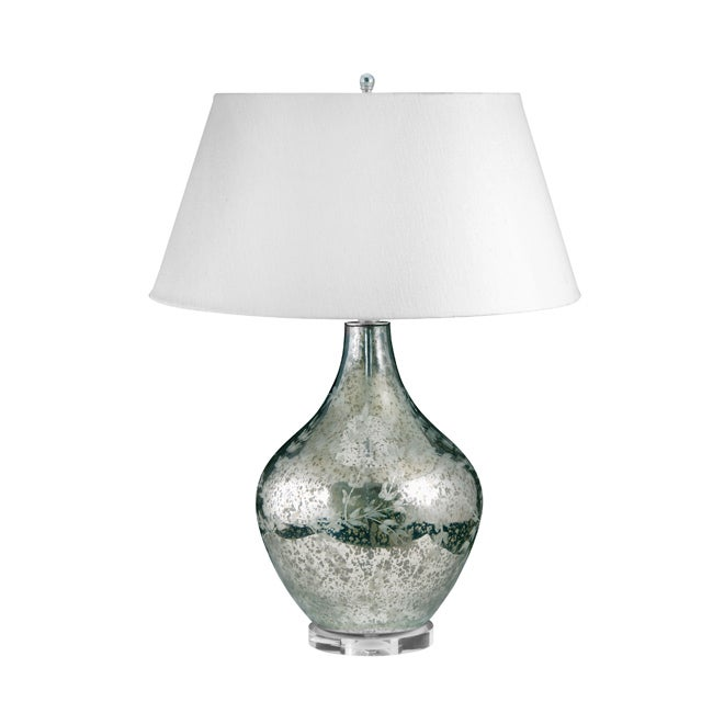 Etched Mercury Glass Lamp