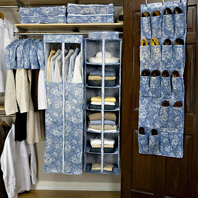 Organized Living 13 Piece Floral Blue Garment Bag Set at Sears.com