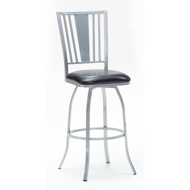 Metal Finish Silver/ Fabric Black Barstool