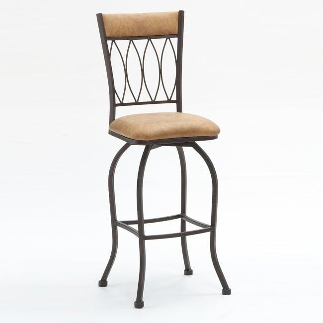 Metal Finish Copper Fabric Barstool