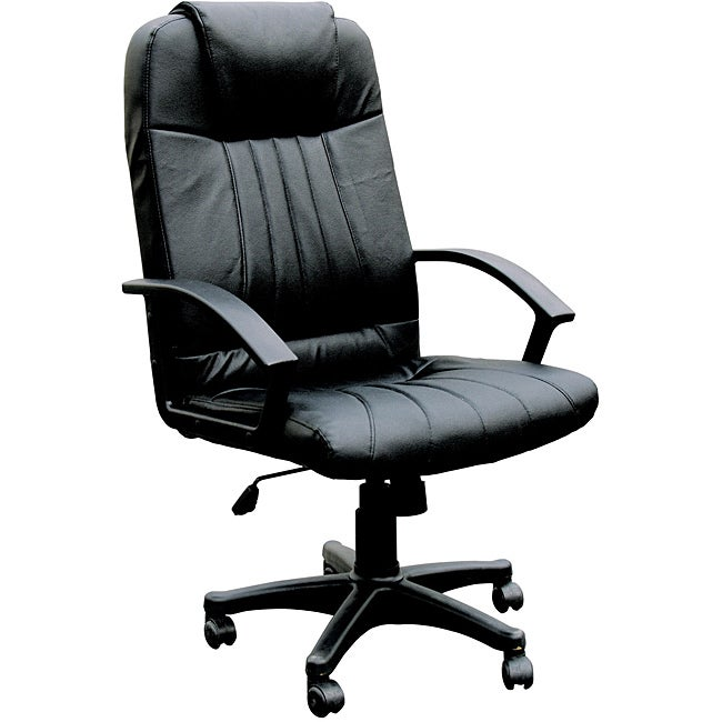 Arthur Black Split Leather Match Executive Chair With Pneumatic Lift