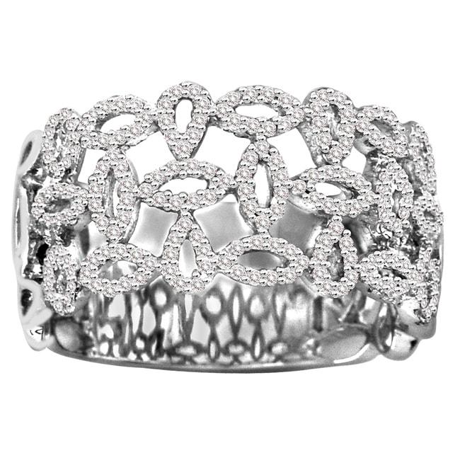 14k White Gold 3/5ct TDW White Diamond Cocktail Ring (H-I, I1-I2)