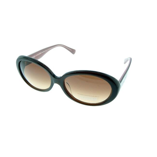 Coach Women's 'Lakita' Brown Retro Sunglasses