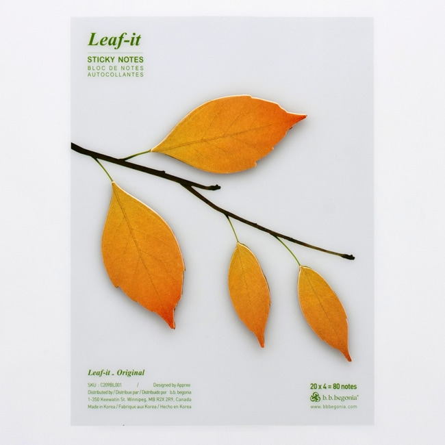 Leaf-it Original Large Brown Sticky Notes (Pack of 20)