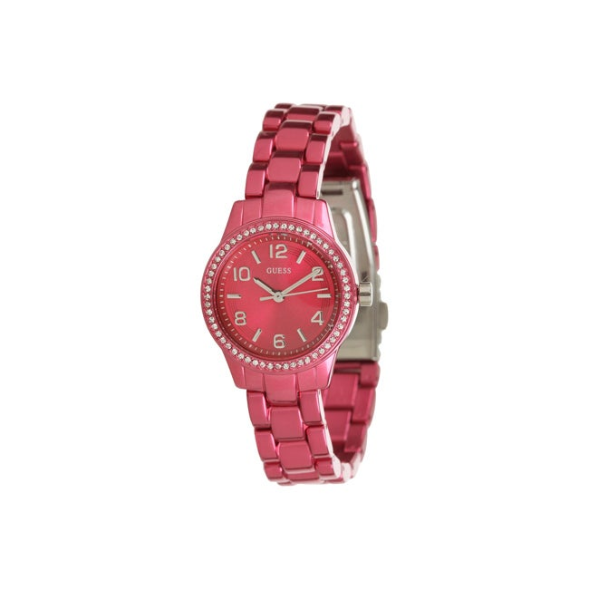 GUESS Women's Color Pop Fuchsia Aluminum Bracelet Watch