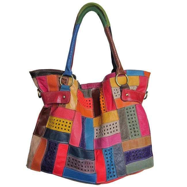 Oliver & James Amerileather Rainbow Mazy LeatherTote Bag at Sears.com