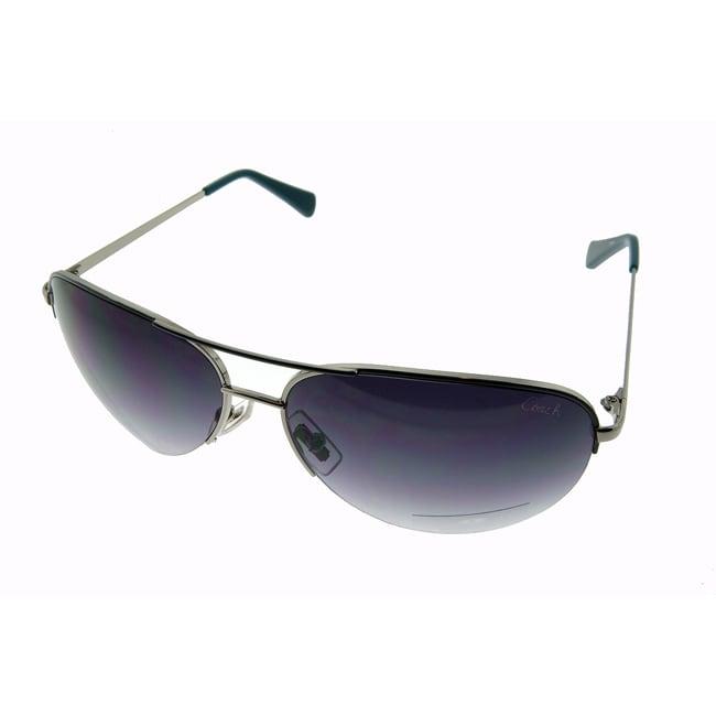 Coach Women's Aviator Gunmetal Sunglasses