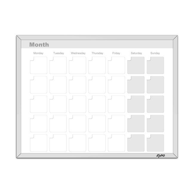 Expo Magnetic Dry Erase Calendar Whiteboard (11 x 14)