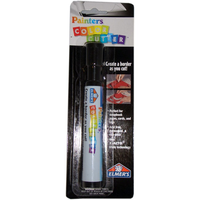 Elmer's Painters ColorCutter, Black Marker (Pack of 6)