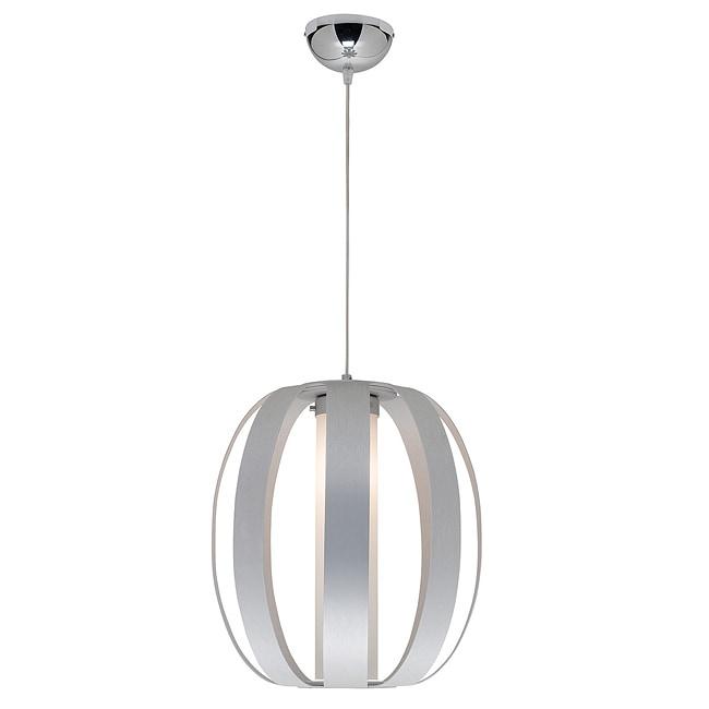 Access 'Helix' Aluminum Finish Opal Glass Pendant