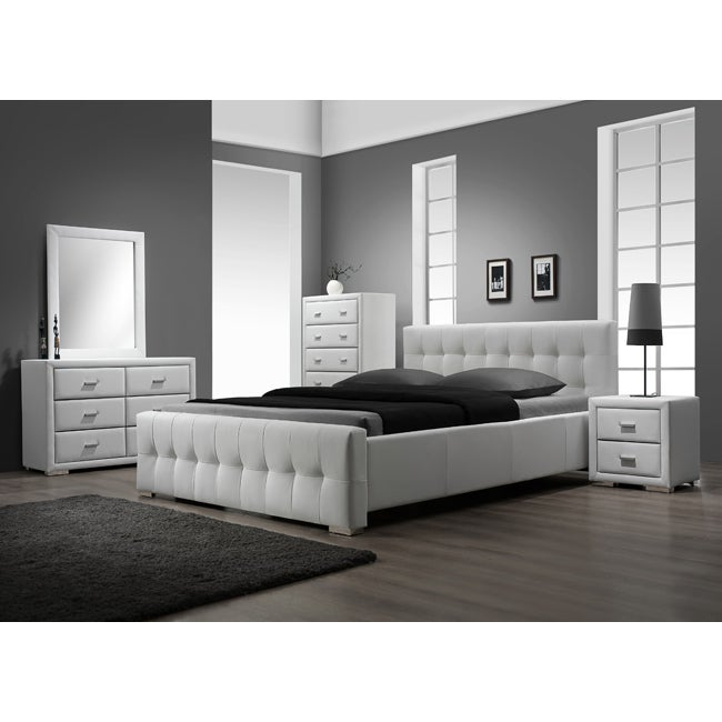 Sierra White King-size 5-piece Bedroom Set