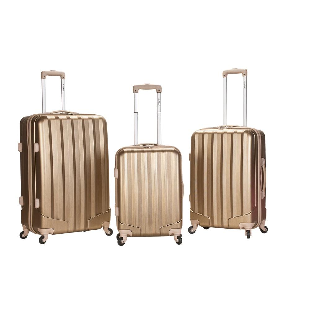 Rockland Santa Fe Lightweight Metallic Bronze 3-piece Hardside Spinner Upright Luggage Set