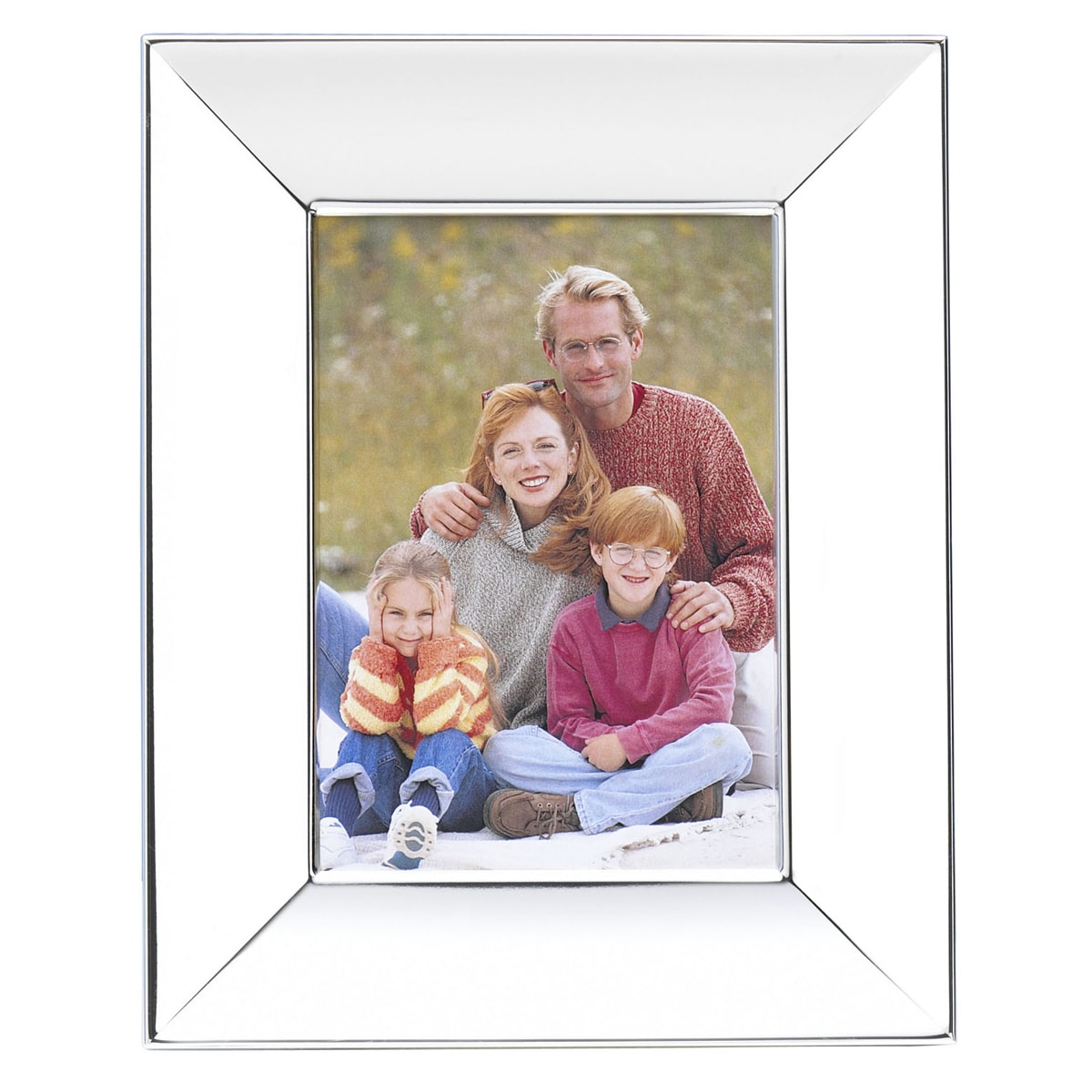 Towle Wide Border Scoop Silver Plated 5 x 7 inch Photo Frame