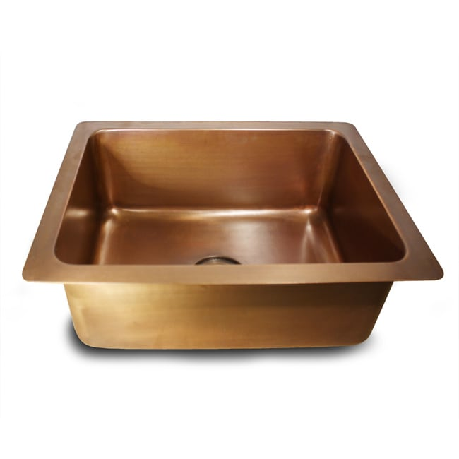 Smooth Copper Light Finish Undermount Kitchen Sink