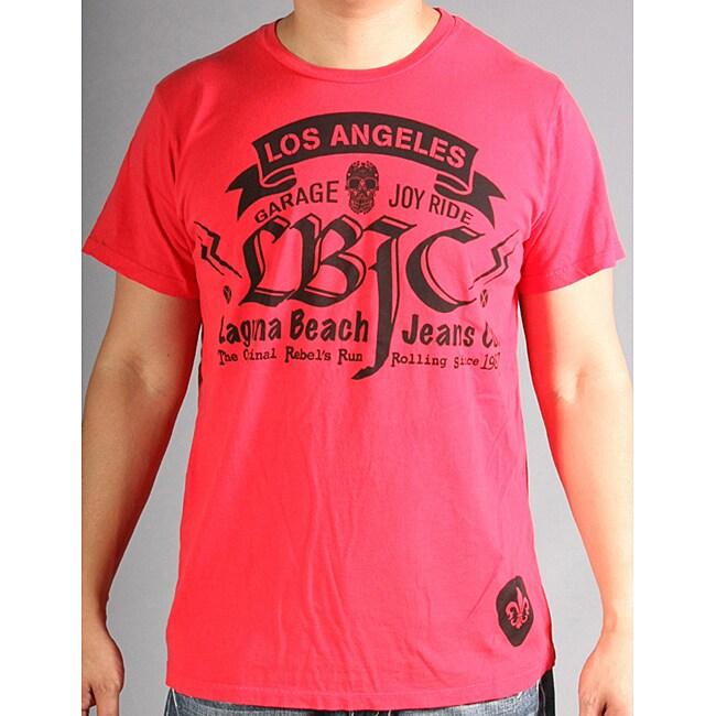 Laguna Beach Jean Co Men's Crew Neck Santa Monica Beach Red 2012 Graphic Tees