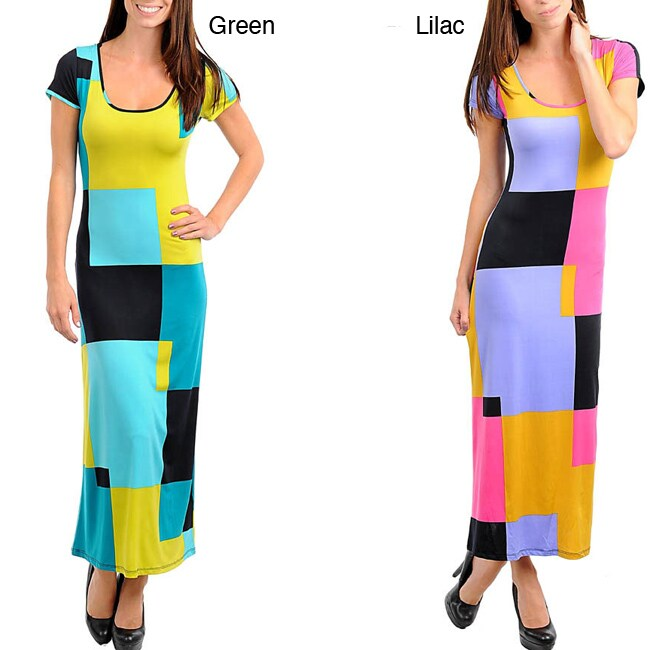 Stanzino Women's Geometric Print Maxi Dress