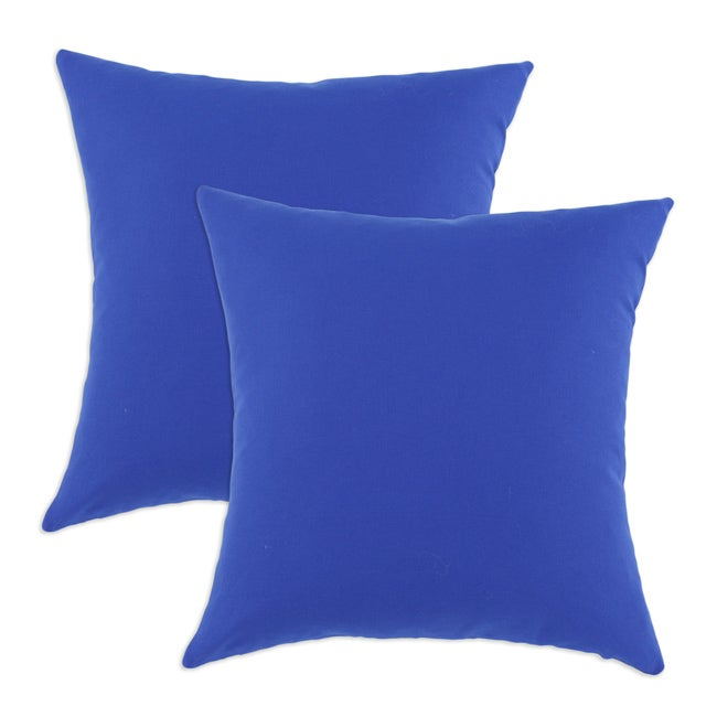 Duck Royal Blue S-backed 17x17-inch Fiber Pillows (Set of 2)