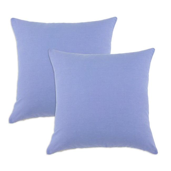 Duck Blue Bonnet S-backed 17x17-inch Fiber Pillows (Set of 2)