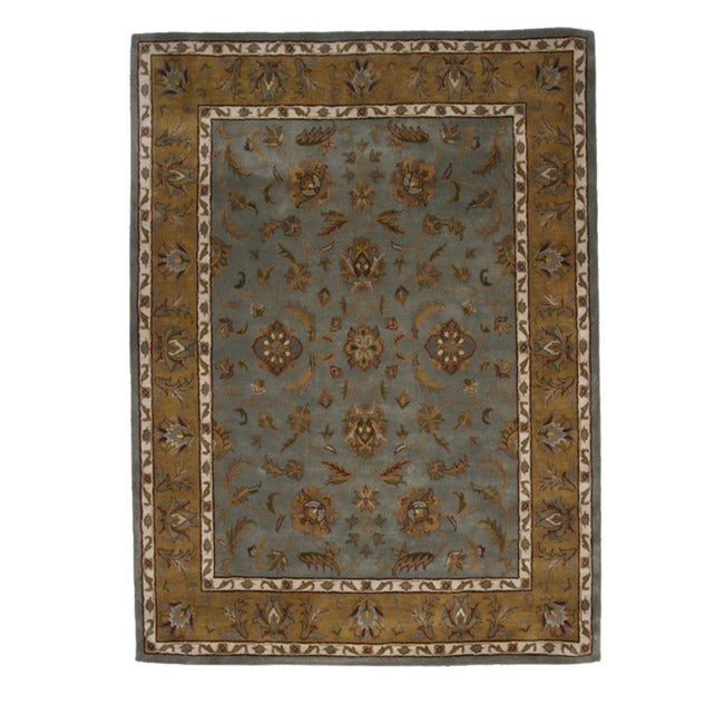 Hand-Tufted Tempest Light Blue/Gold Area Rug (8' x 10')