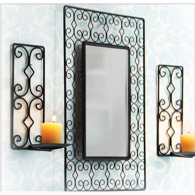 American Atelier Candle Holders with Mirror (Set of 2)
