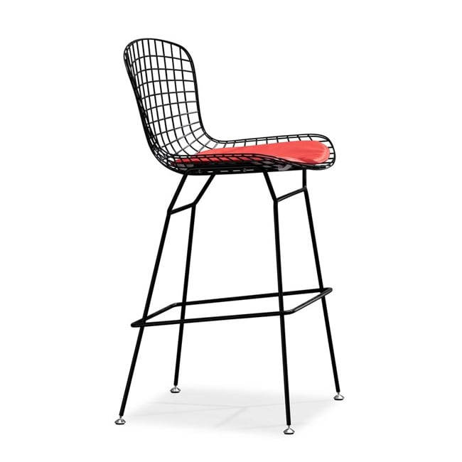 Zuo Wire Black Bar Chairs (Set of 2)