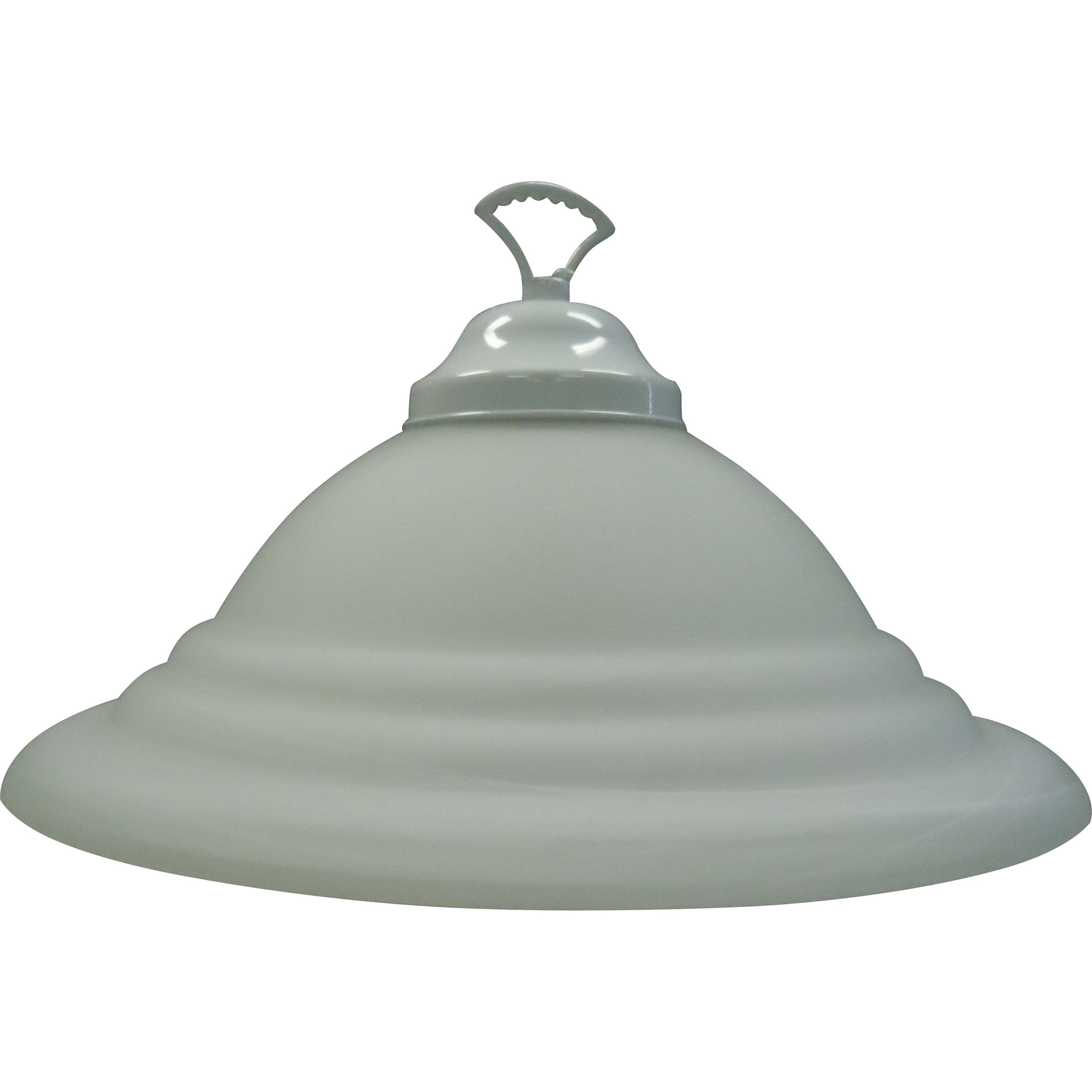 One Light White Pendant