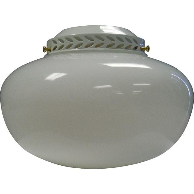 One Light White/ Polished Brass Ceiling Fan Light Kit