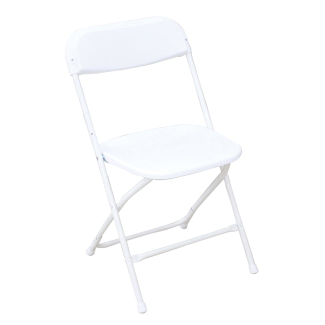 Gallery Lightweight White Plastic Folding Chairs (Pack of 6)