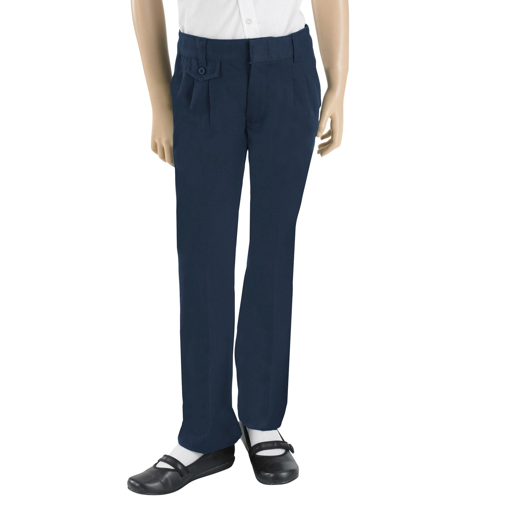 French Toast Girl's School Uniform Navy Twill Pants Size 4 (Set of 2)
