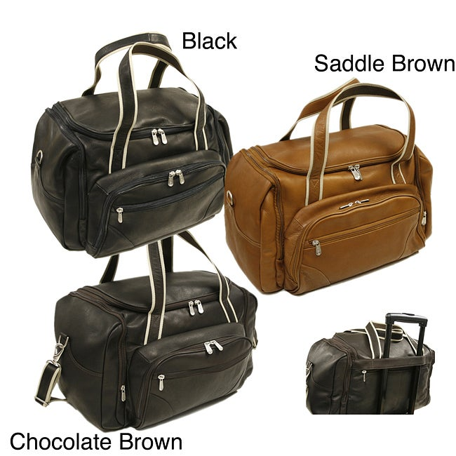 Overstock.com Piel Leather 20-inch Three-pocket Duffel Bag at Sears.com