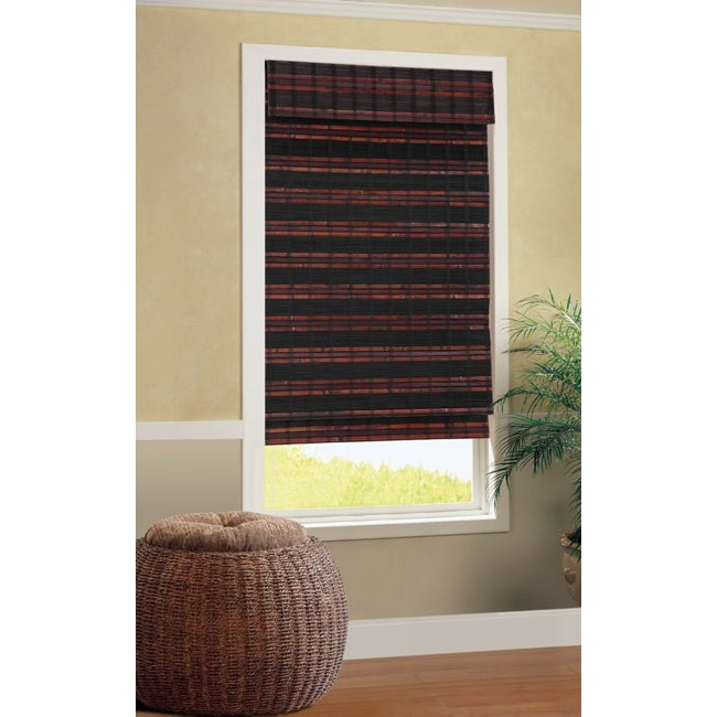 Java Cordless Bamboo Roman Window Shade