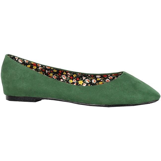XICA by Beston Women's 'Jana-02' Green Flats