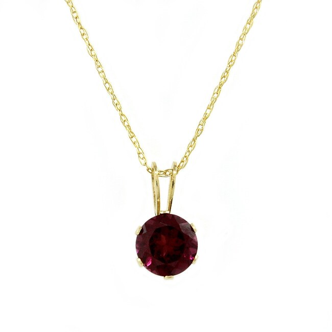 Beverly Hills Charm 14k Yellow Gold Rhodolite Garnet Necklace