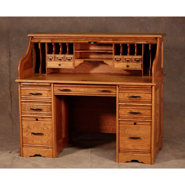 Wood Revival 54-Inch Rolltop Desk