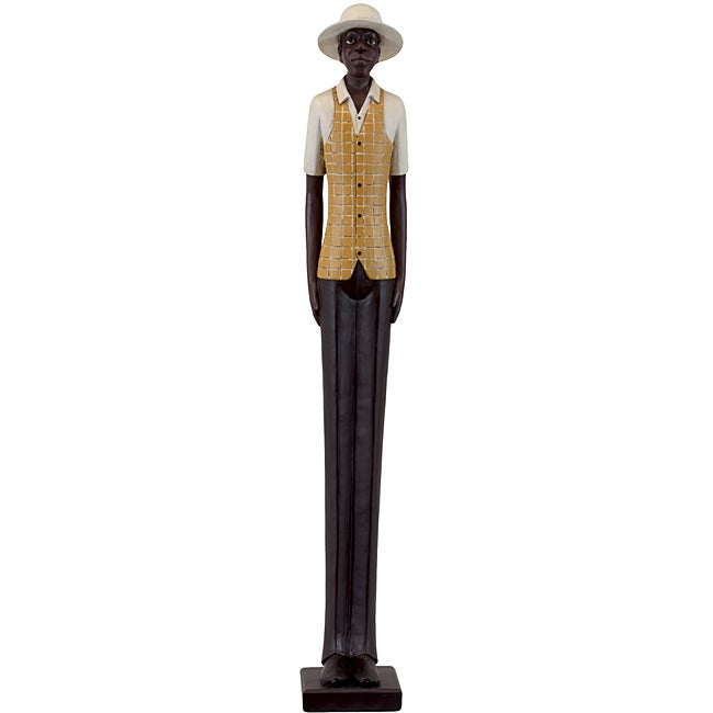 Resin Man with Yellow Jacket Figurine