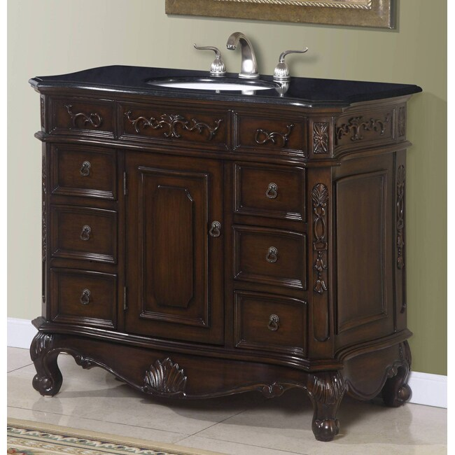 ica furniture isidora single bathroom vanity cabinet with granite top