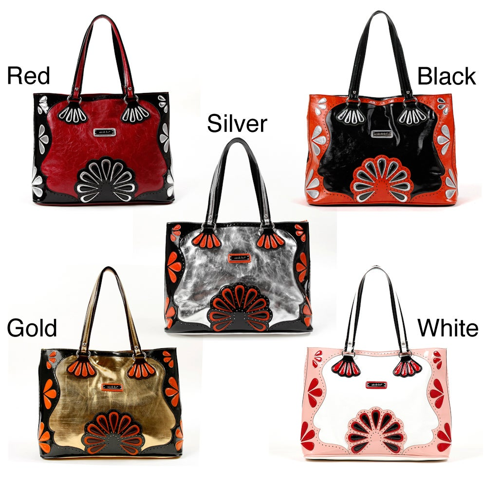 Nicole Lee Enola Flower Power Tote Handbag