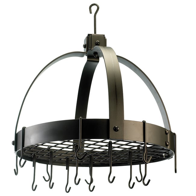 Old Dutch Dome Oiled Bronze 16-hook Pot Rack